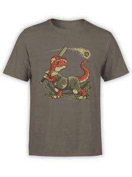 0610 Dinosaur T-Shirt Fight The Asteroid