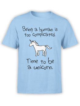 0612 Unicorn Shirt Time To Be_FrontBabyBlue