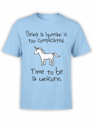 0612 Unicorn Shirt Time To Be_FrontBabyBlue