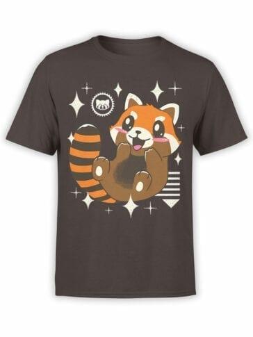 0613 Panda Shirt Kawaii Red Panda_Front