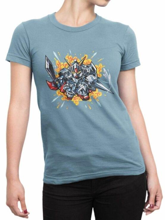 0615 Gundam Shirt Knight_Front_Woman