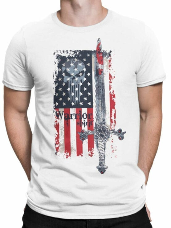 0616 Patriotic Shirts Warrior Spirit_Front_Man