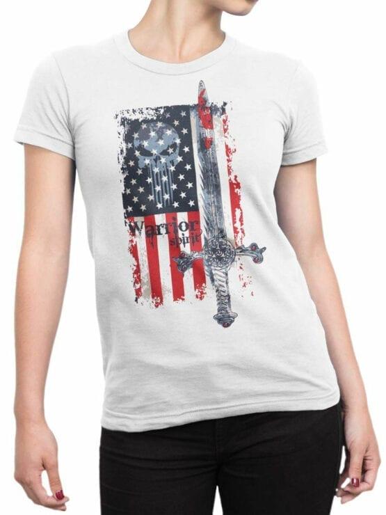 0616 Patriotic Shirts Warrior Spirit_Front_Woman