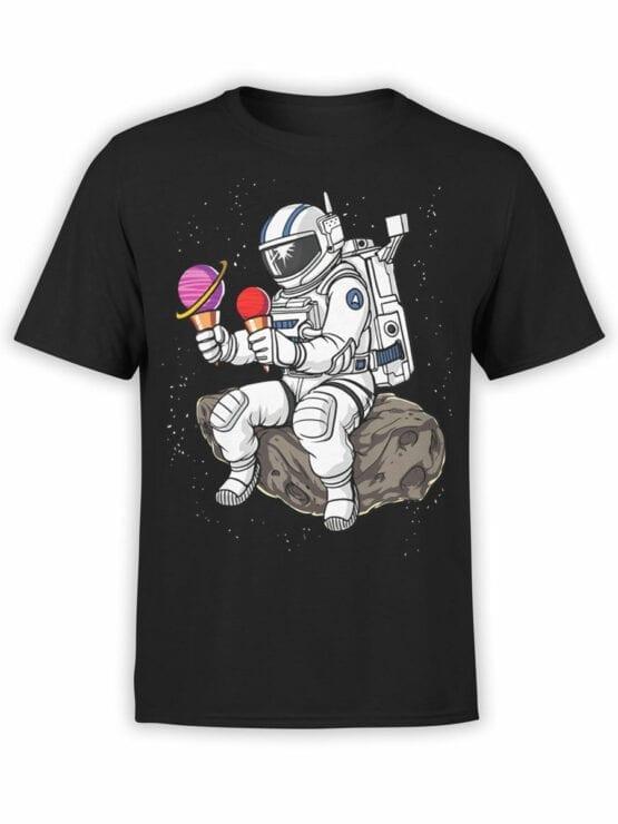 0619 NASA Shirt Astronaut Ice cream