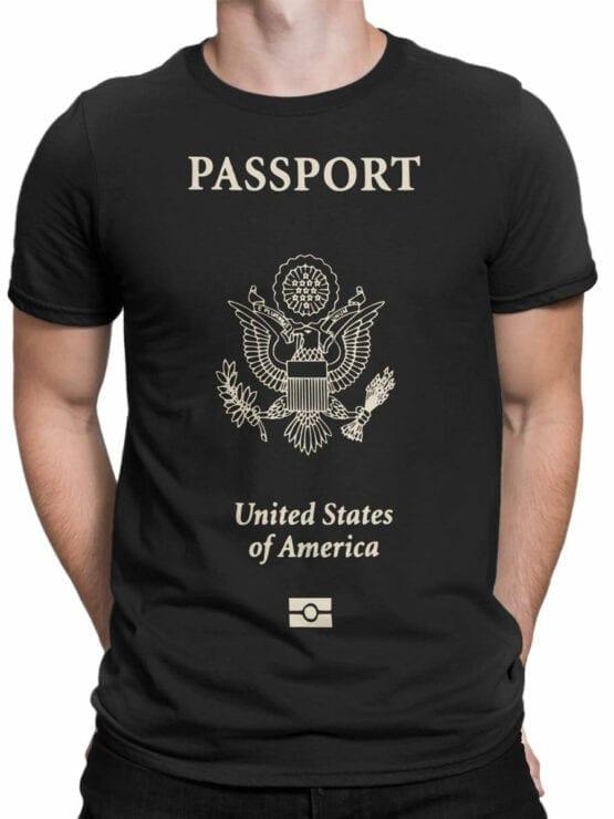 0636 Patriotic Shirts USA Passport