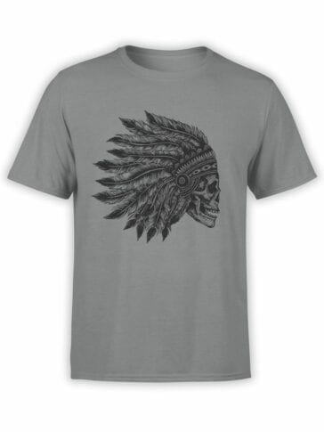 0641 Skull Shirt Native Headdress