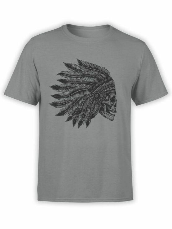 0641 Skull Shirt Native Headdress