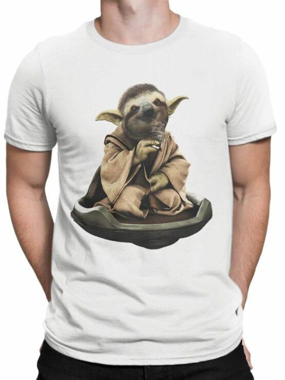0642 Star Wars T-Shirt Sloth Yoda