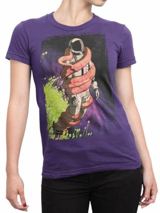0648 NASA Shirt Snake Front Woman