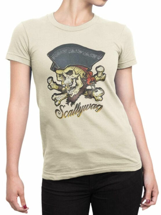 0649 Pirate Shirt Scallywag Front Woman