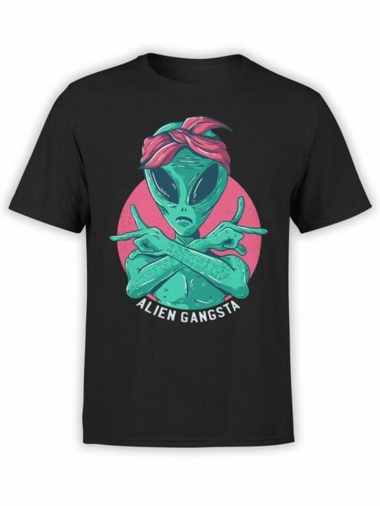 0650 Alien Shirt Gangsta Front