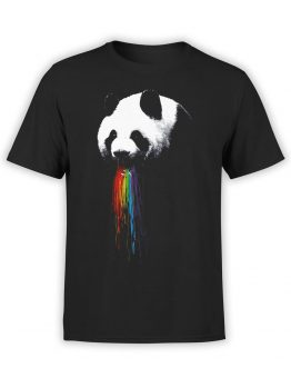 0651 Panda Shirt Rainbow Front
