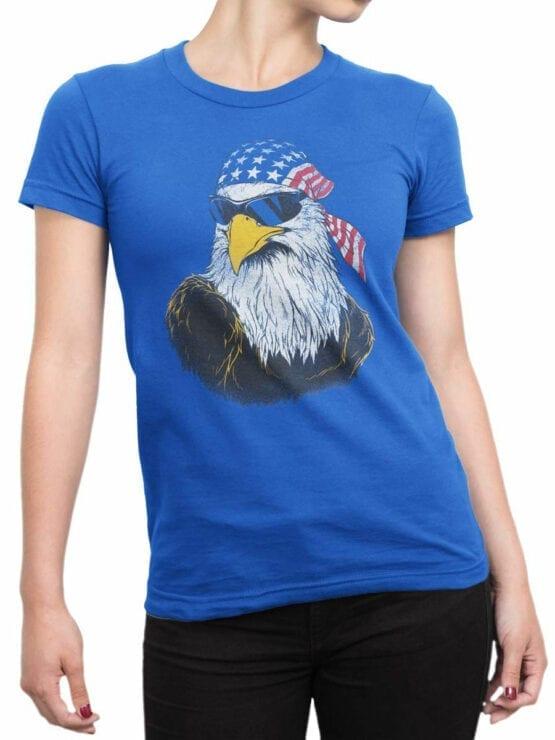 0652 Patriotic Shirts American Eagle Front Woman
