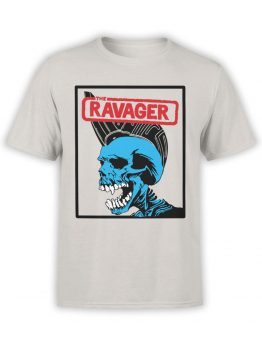 0654 Pirate Shirt Ravager Front Silver