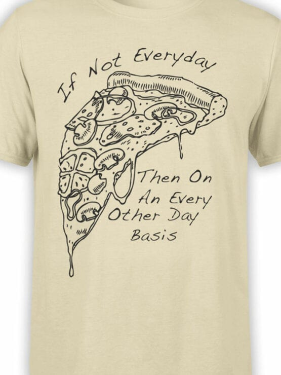 0657 Pizza Shirt Everyday Front Color
