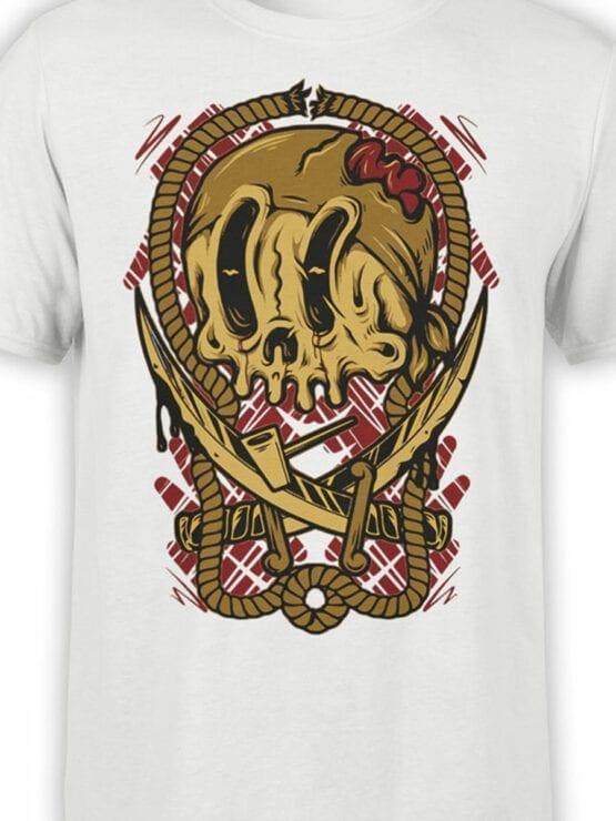 0658 Pirate Shirt Crossbones Front Color