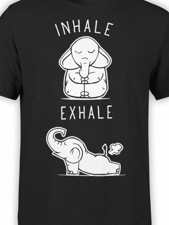0659 Elephant Shirt Elephant Yoga Front Color