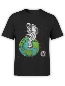 0660 NASA Shirt Astronaut Bicycle Front