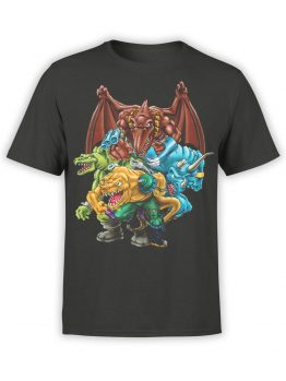 0663 Dinosaur T Shirt Extreme Front
