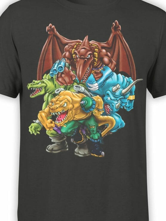 0663 Dinosaur T Shirt Extreme Front Color