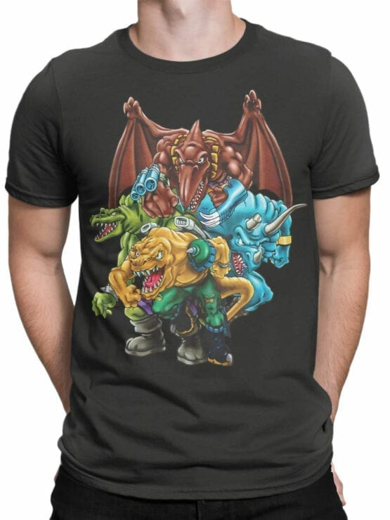 0663 Dinosaur T Shirt Extreme Front Man