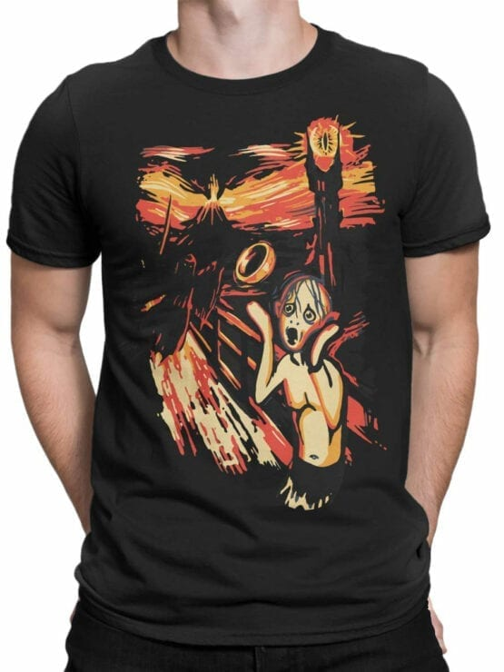 0664 Lord of the Rings Shirt Gollum Scream Front Man