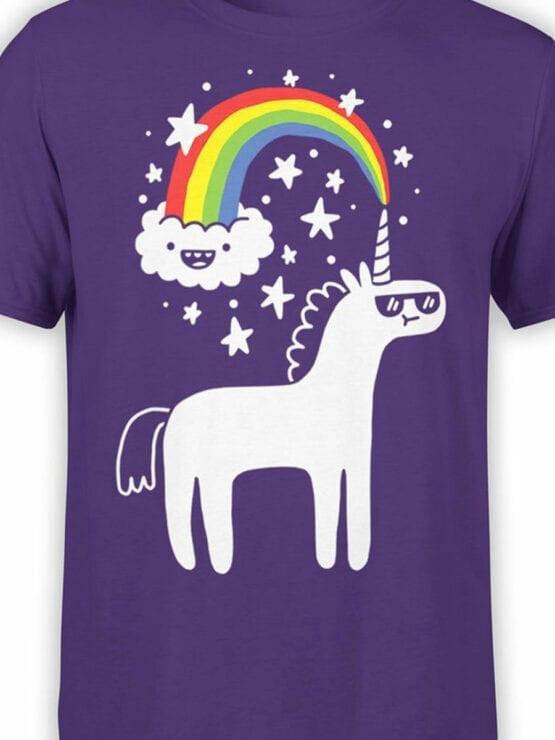 0668 Unicorn Shirt Unicorn Cloud Front Color