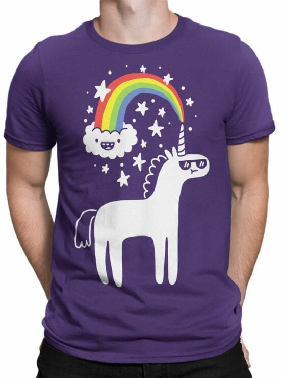 0668 Unicorn Shirt Unicorn Cloud Front Man