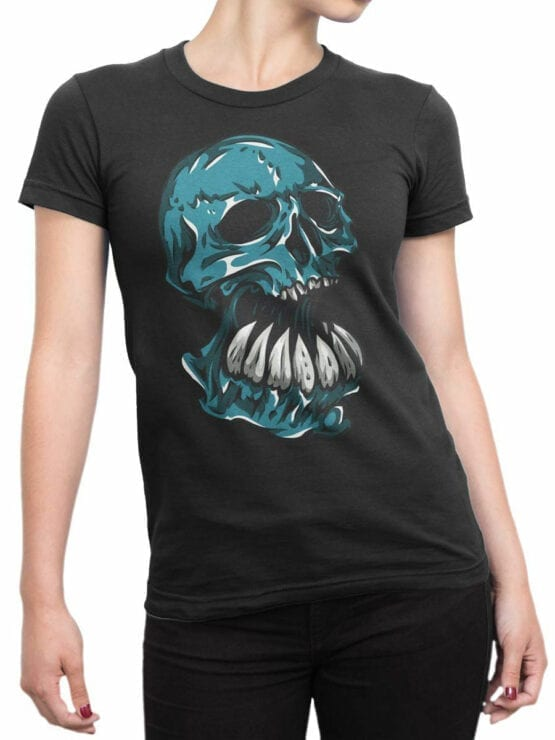 0669 Skull Shirt Troll Front Woman