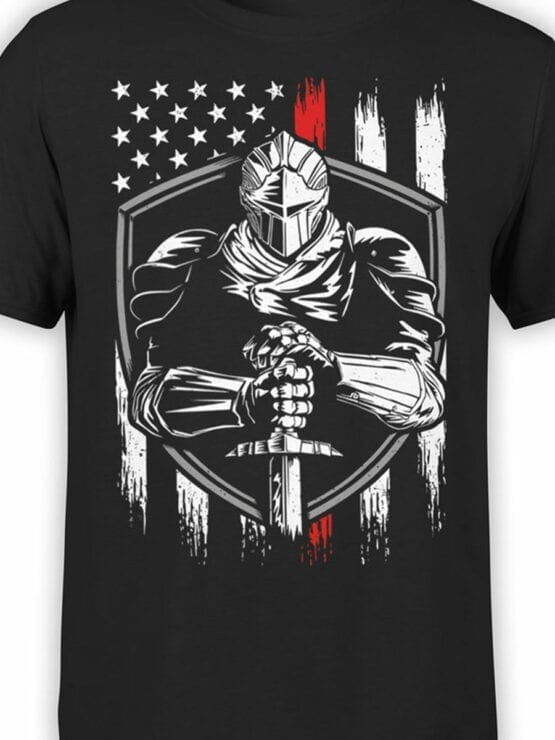 0671 Patriotic Shirts USA Defender Front Color