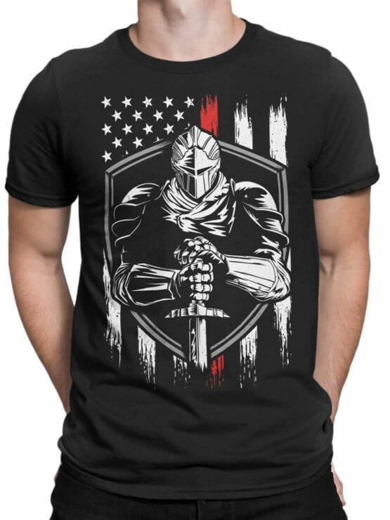 0671 Patriotic Shirts USA Defender Front Man
