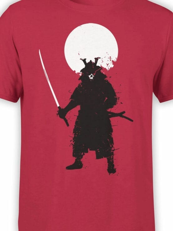 0673 Warrior Shirt Ghost Samurai Front Color