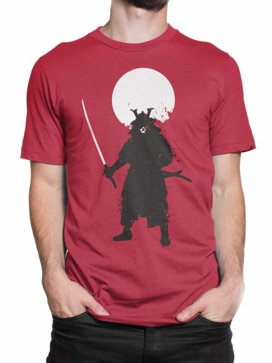 0673 Warrior Shirt Ghost Samurai Front Man 2