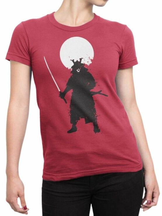 0673 Warrior Shirt Ghost Samurai Front Woman