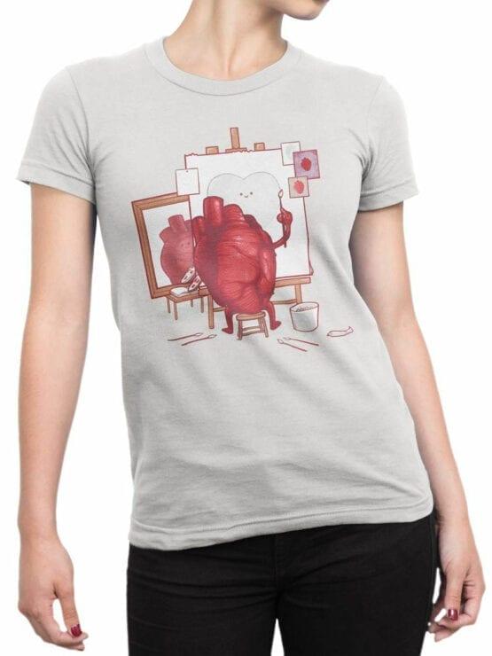 0674 Cool T Shirts Self Portrait Front Woman