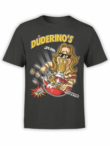 0676 Big Lebowski T Shirt Duderinos Front