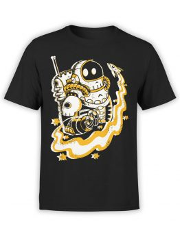 0683 NASA Shirt Skull Space Pirates Front