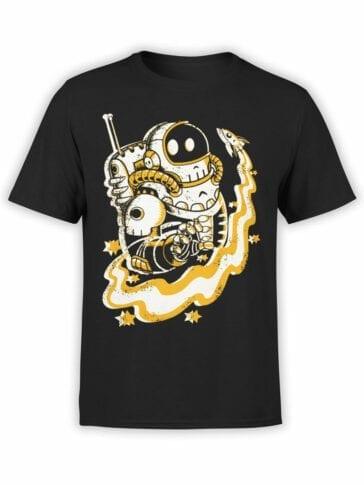 0683 NASA Shirt Skull Space Pirates Front