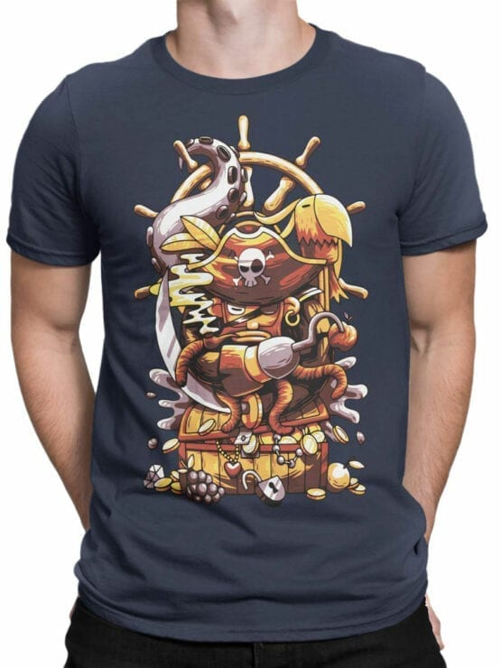0684 Pirate Shirt Sea Front Man