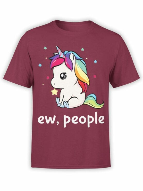 0689 Unicorn Shirt Ew People Front