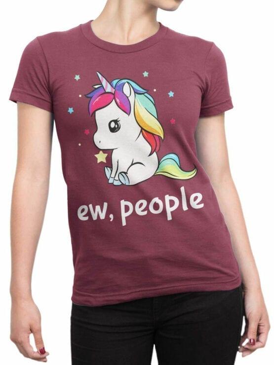 0689 Unicorn Shirt Ew People Front Woman