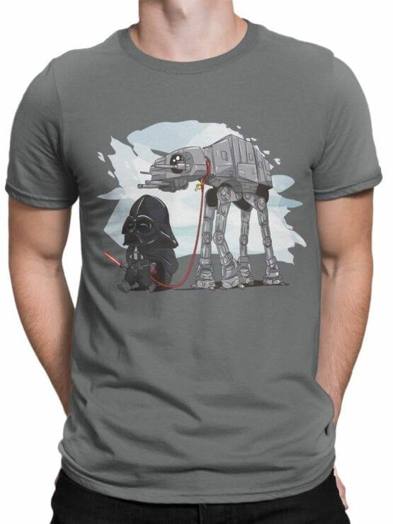 0691 Star Wars T Shirt Cute Vader Front Man