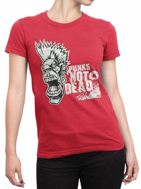 0693 Cool T Shirts Punk Front Woman