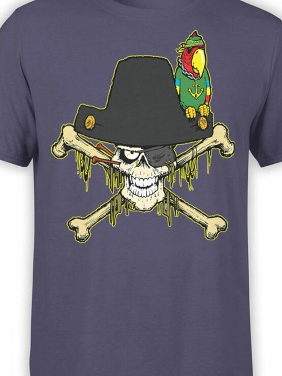 0694 Pirate Shirt Captain Roger Front Color