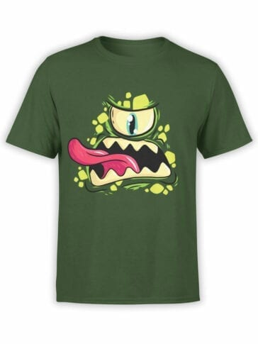 0695 Cool T Shirts Green Monster Front