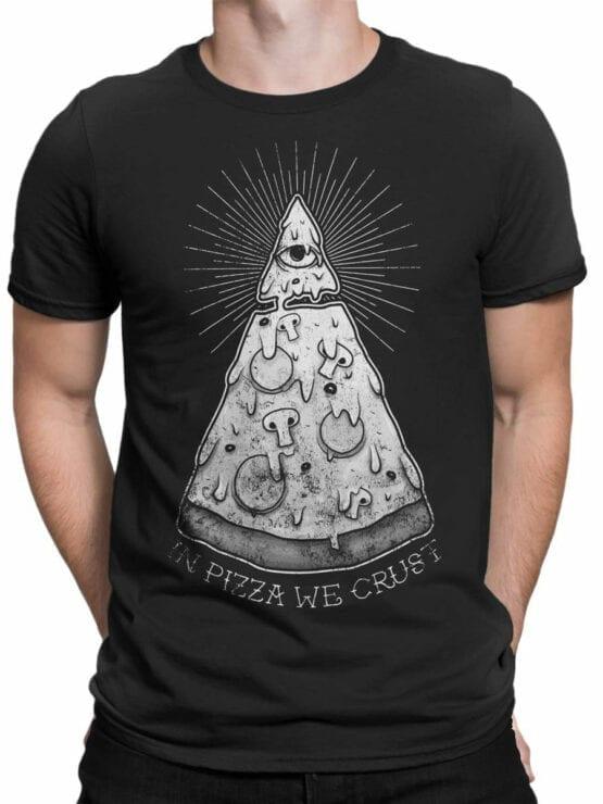 0696 Pizza Shirt Crast Front Man