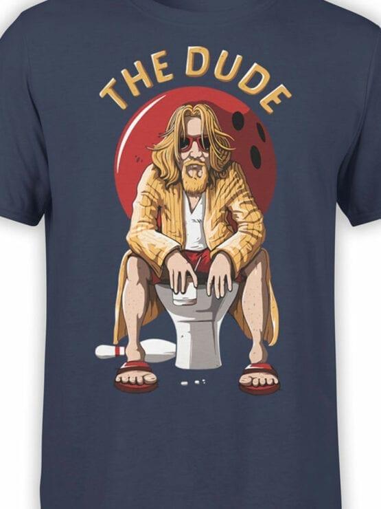 0697 Big Lebowski T Shirt Dude Rest Front Color