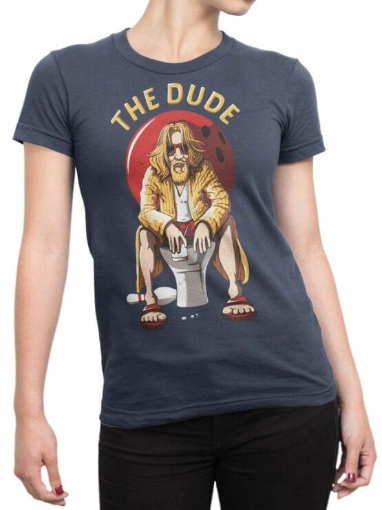 0697 Big Lebowski T Shirt Dude Rest Front Woman
