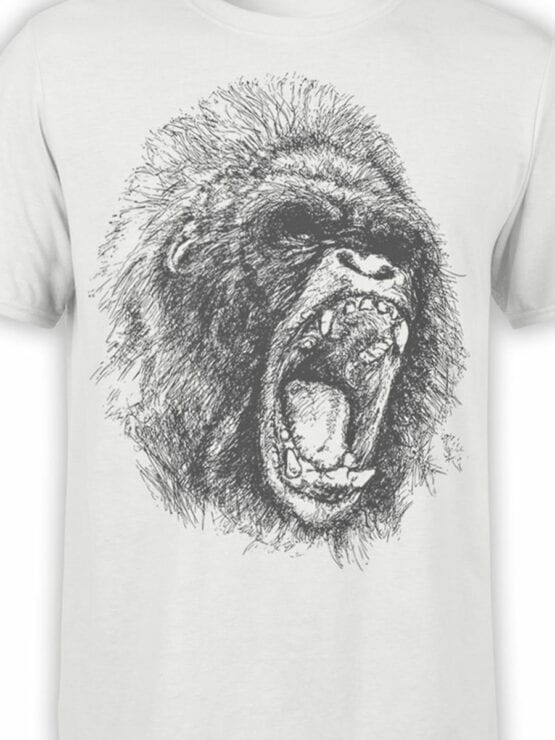 0698 Cool T Shirts Gorilla Front Color