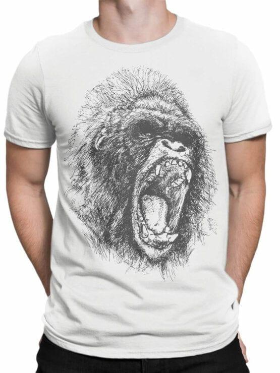 0698 Cool T Shirts Gorilla Front Man
